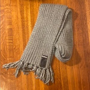 Barbour grey scarf 100% acrylic